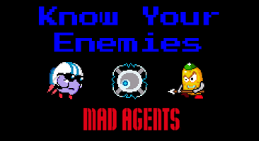 Enemy Descriptions for Mad Agents retro game iOS app by Startled Monocle